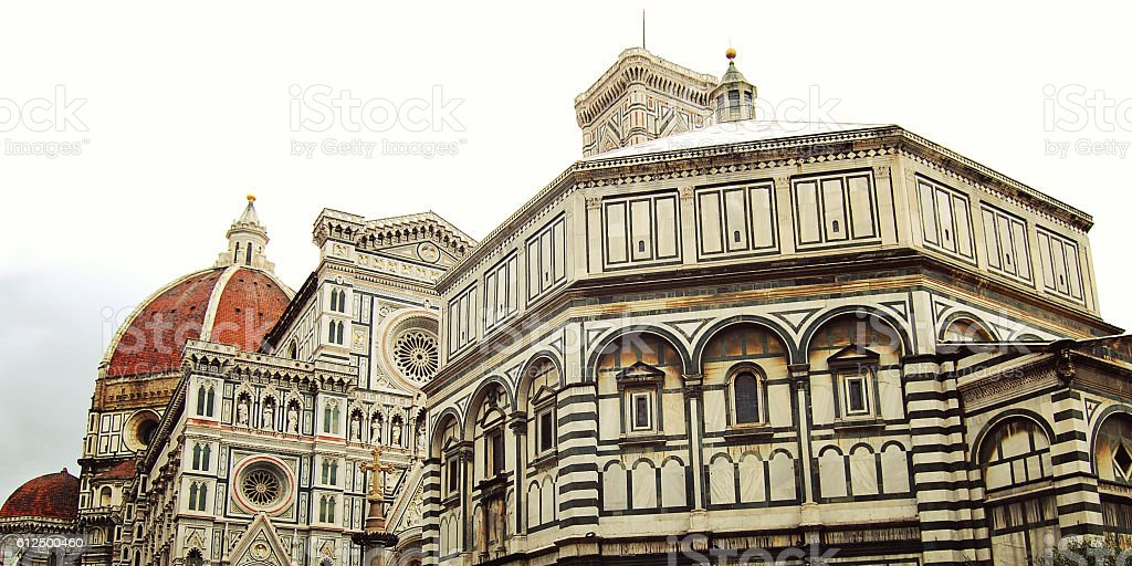 Cathedral of Santa Maria del Fiore in Florence, Italy. stock photo