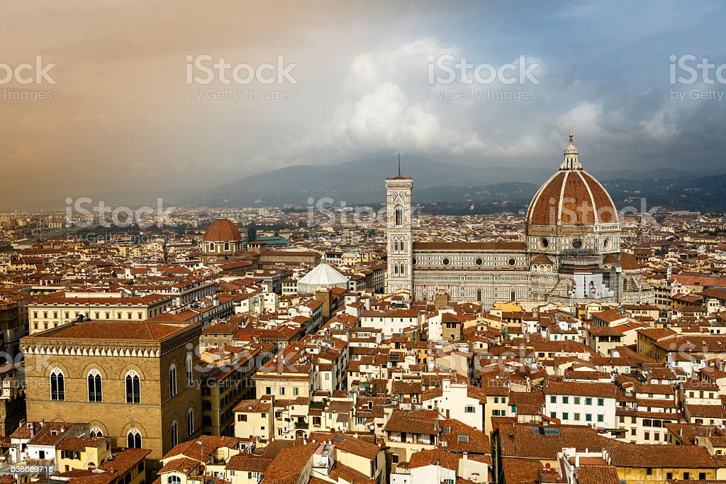 Cathedral of Santa Maria del Fiore (Duomo) in Florence stock photo