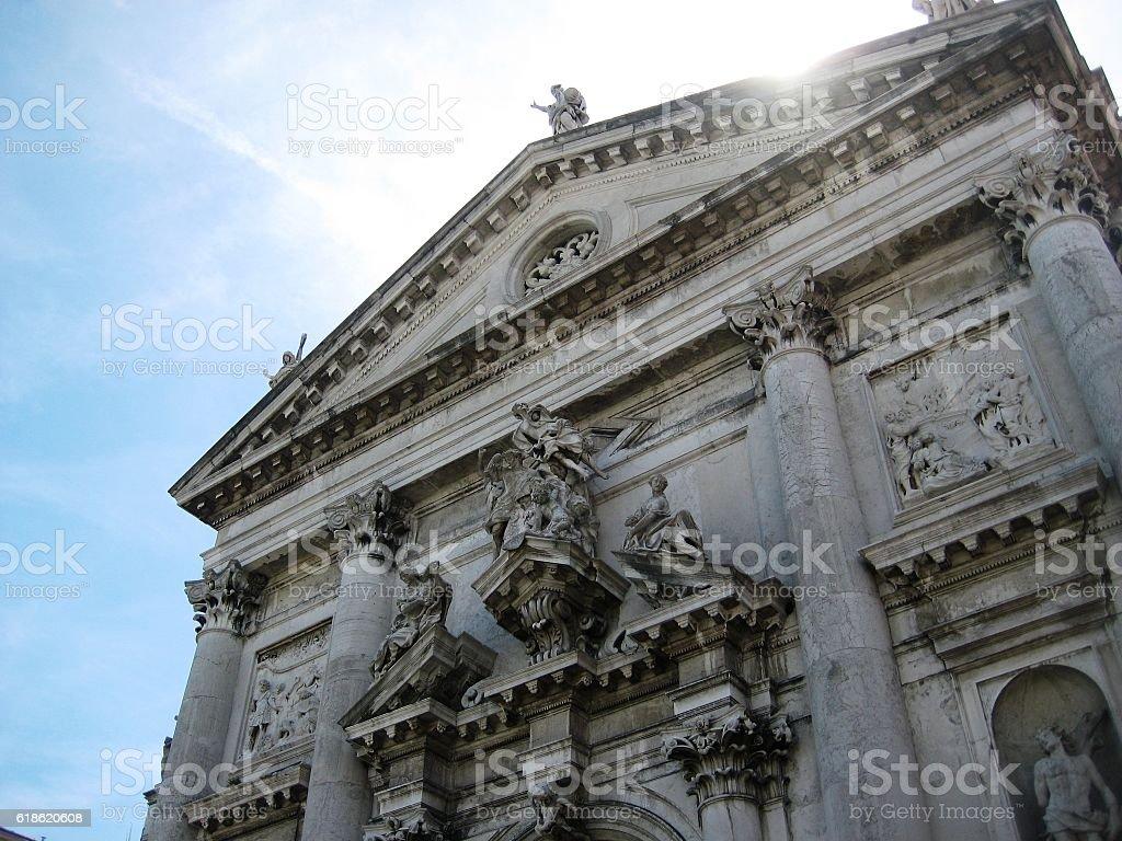 Cathedral of Santa Maria della Salute stock photo