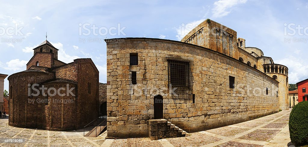 Cathedral of Santa Maria d'Urgell stock photo