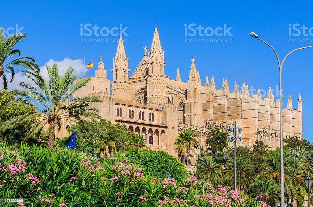 Cathedral of Santa Maria in Palma de Majorca royalty-free stock photo