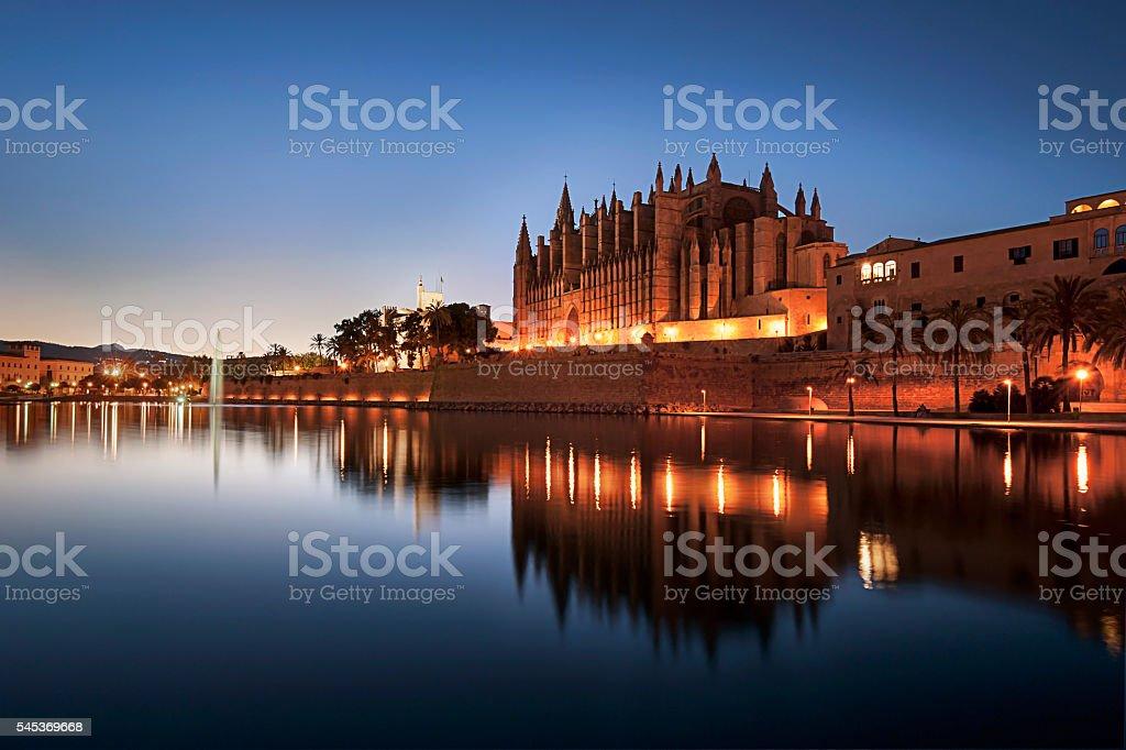 Cathedral of Santa Maria of Palma de Mallorca Spain stock photo