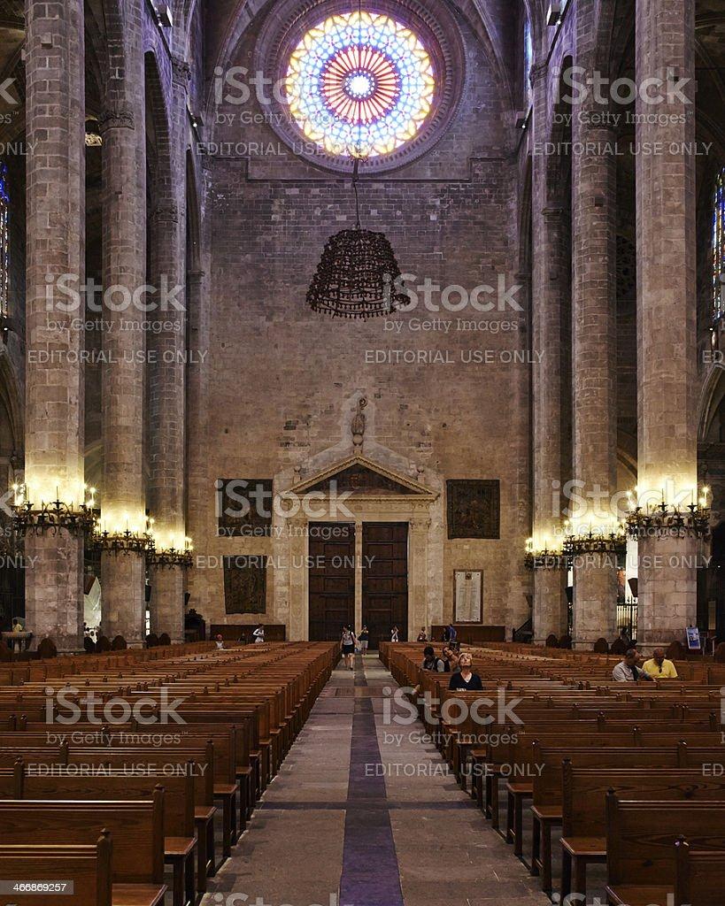 Cathedral of Santa Maria Palma interior royalty-free stock photo