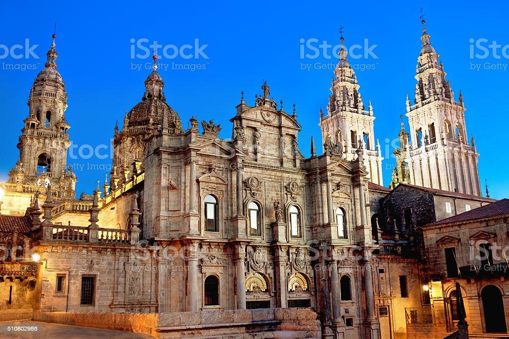 Cathedral of Santiago de Compostela. Galicia, Spain stock photo