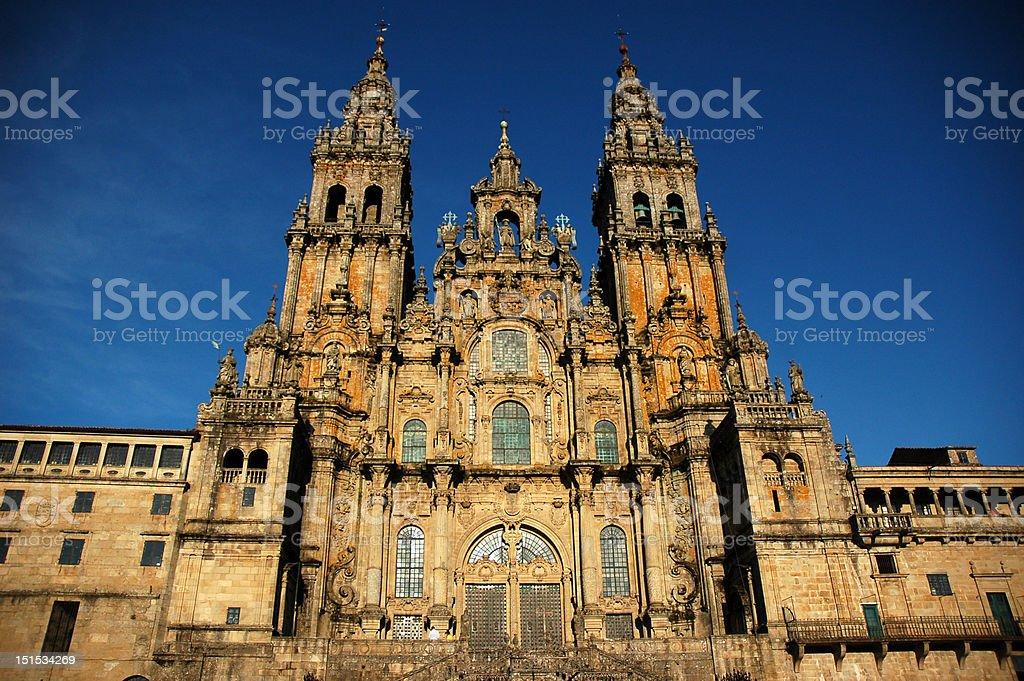 Cathedral of Santiago de Compostela stock photo