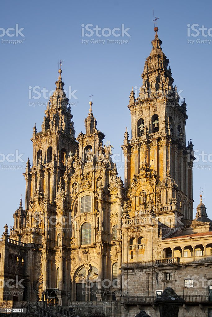 Cathedral of Santiago de Compostela royalty-free stock photo