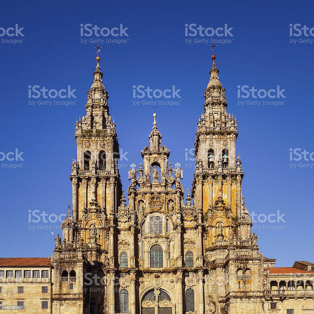 Cathedral of Santiago de Compostela royalty-free stock photo