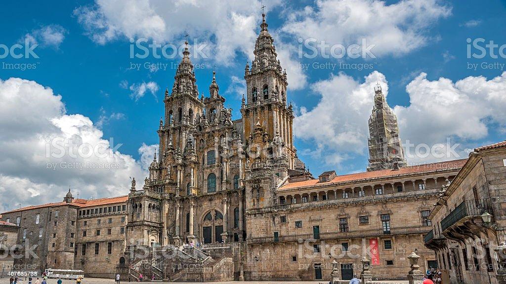 Cathedral of Santiago de Compostela , Spain. stock photo