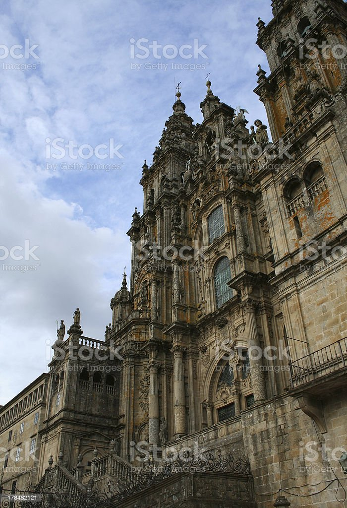 Cathedral of Santiago stock photo