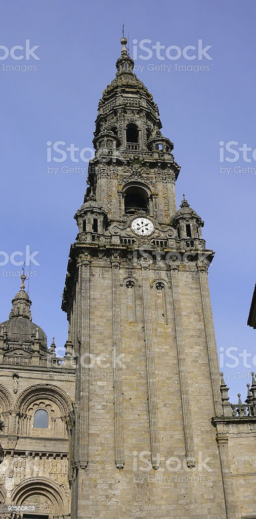 Cathedral of Santiago Tower royalty-free stock photo