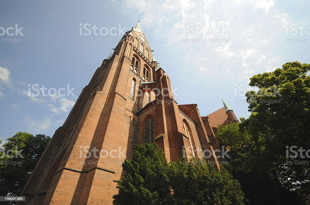 cathedral of Schwerin (Germany) stock photo