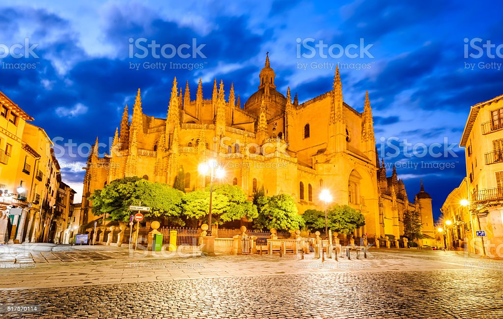 Cathedral of Segovia in Castile and Leon, Spain stock photo