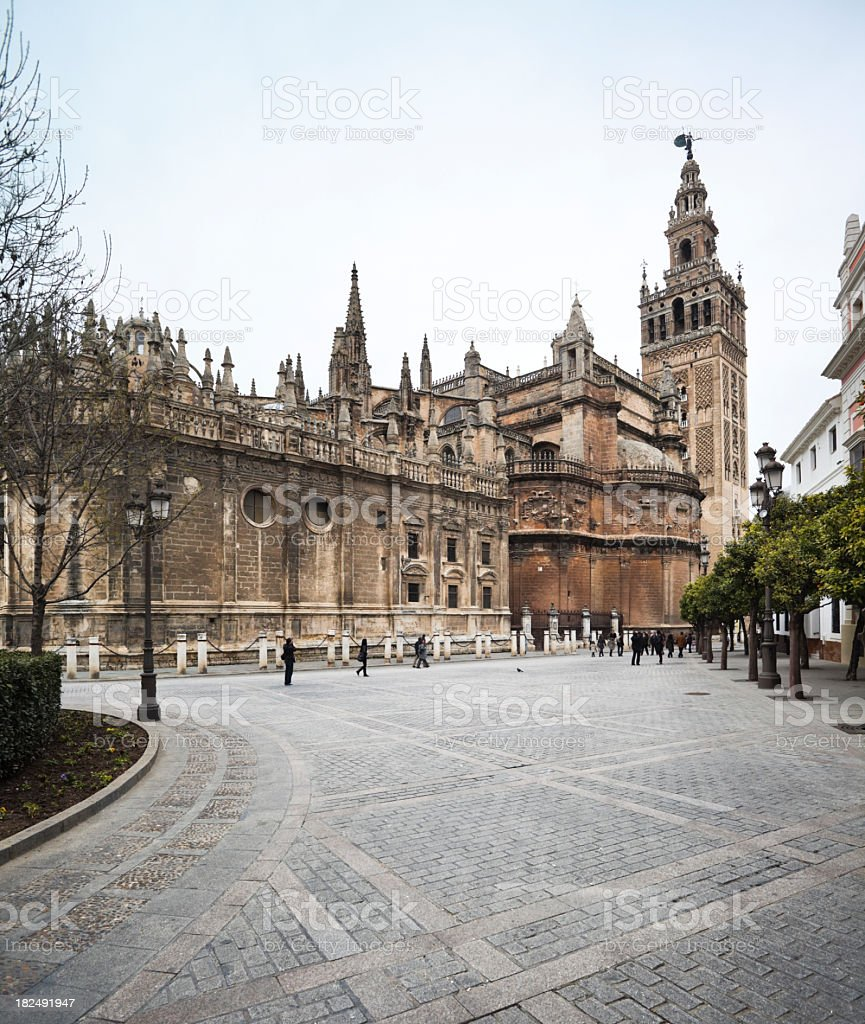 Cathedral of Seville in Spain royalty-free stock photo