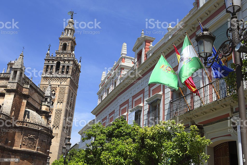 Cathedral of Seville royalty-free stock photo