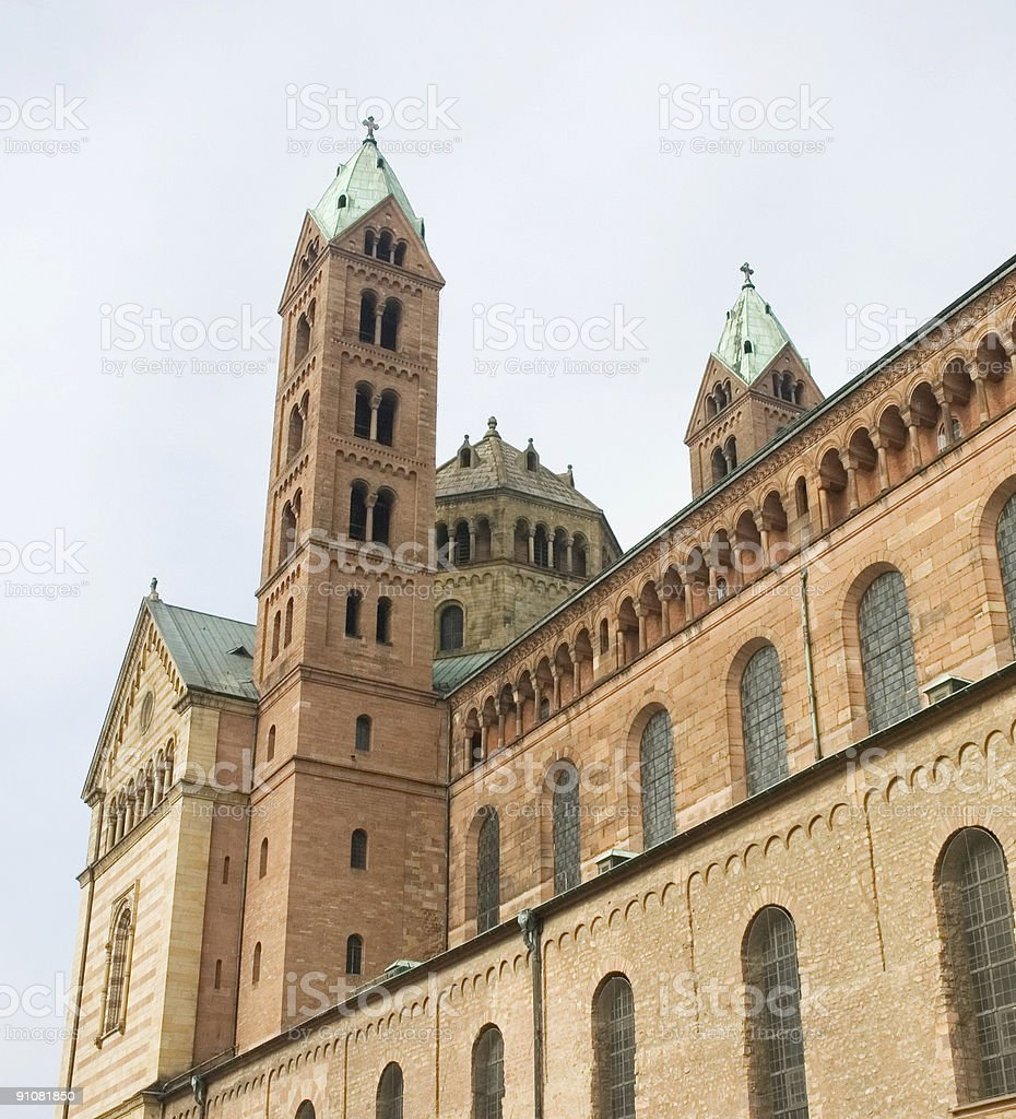 Cathedral of Speyer, Germany royalty-free stock photo