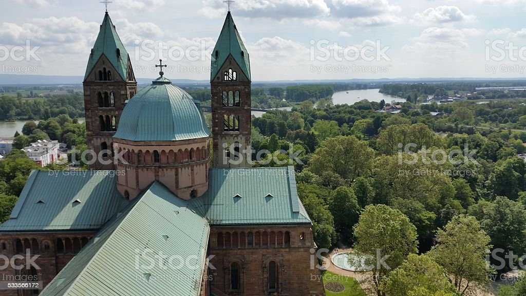 cathedral of Speyer stock photo