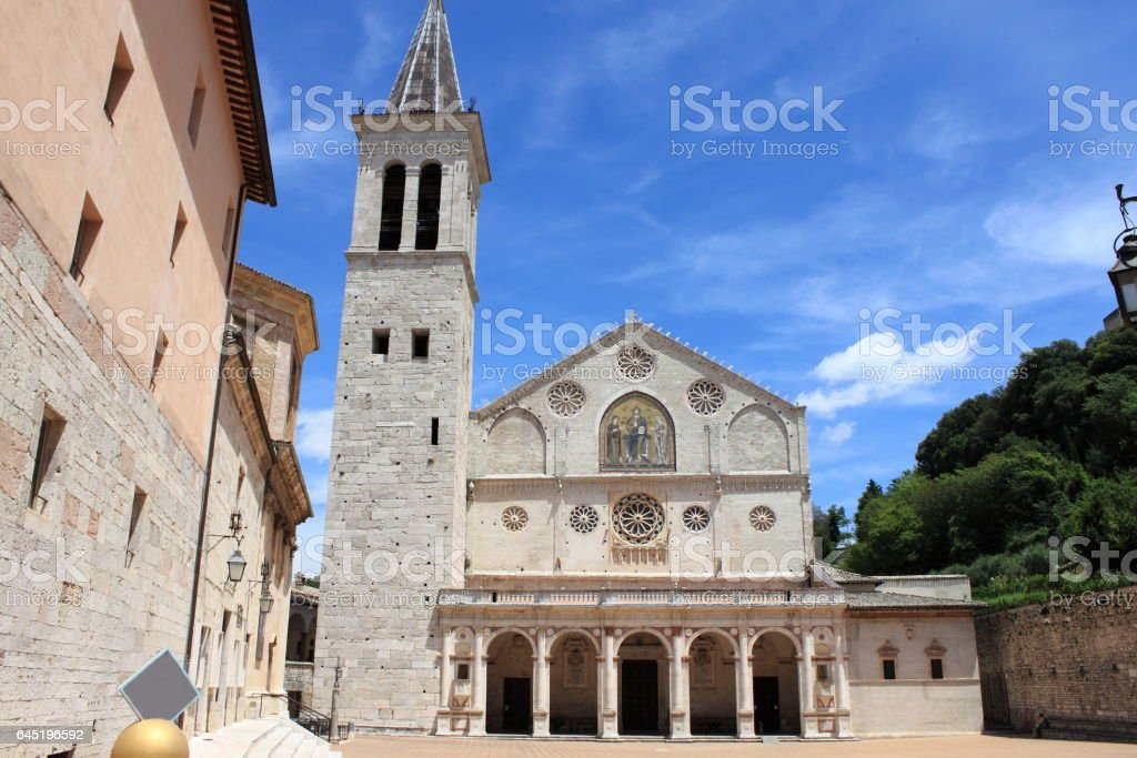 Cathedral of Spoleto stock photo