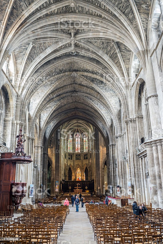 Cathedral of St. Andre. Bordeaux, Aquitaine. France. stock photo