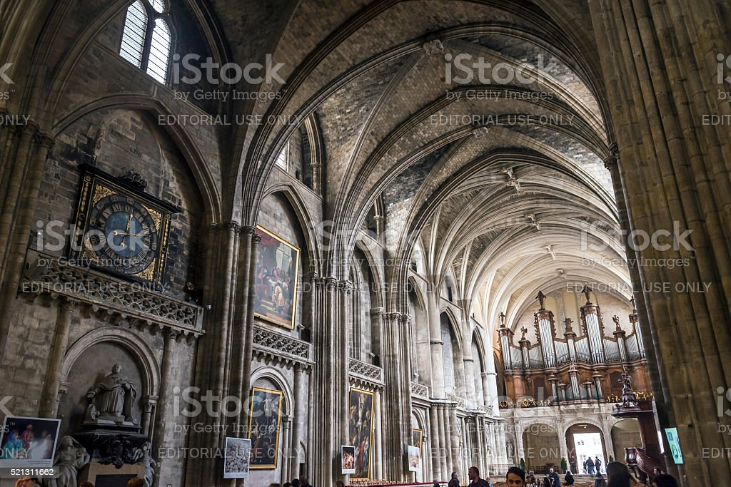Cathedral of St. Andre in Bordeaux, France stock photo
