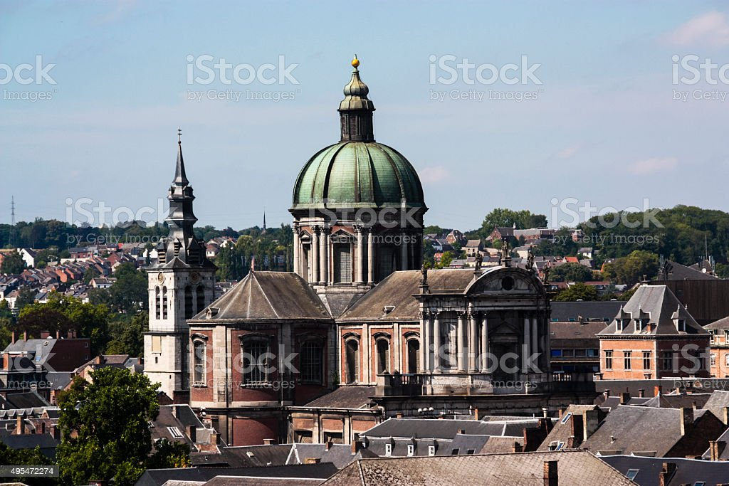 Cathedral of St Aubain stock photo