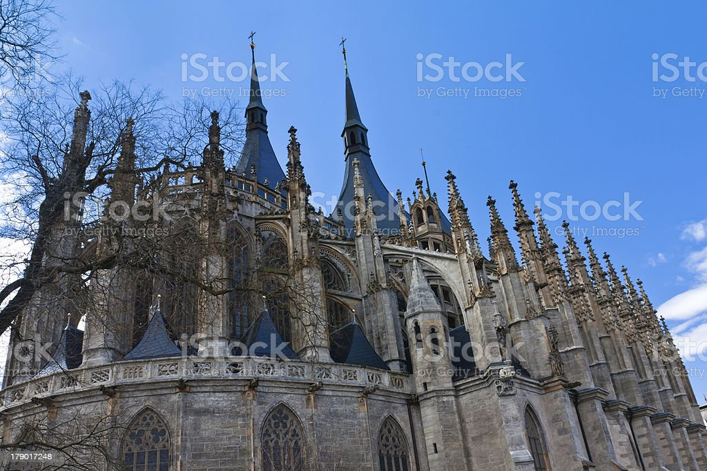 Cathedral of St. Barbara royalty-free stock photo