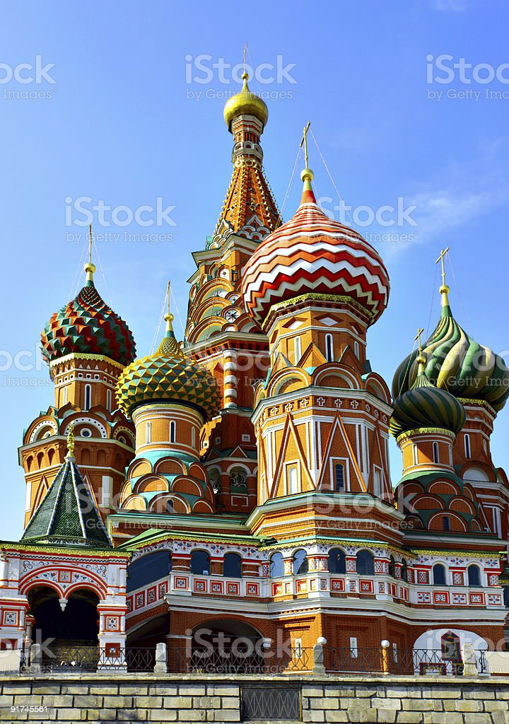 Cathedral of St. Basil the Blessed royalty-free stock photo