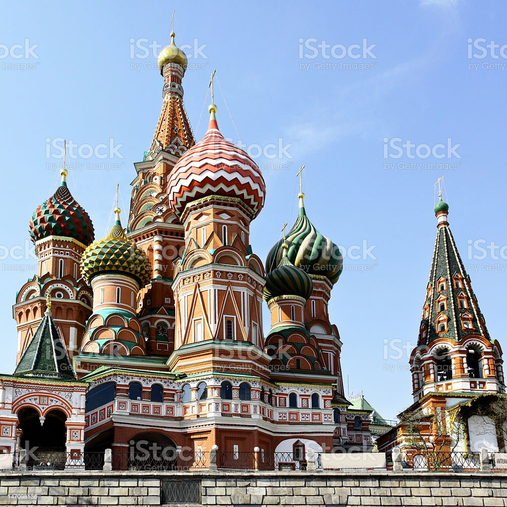 Cathedral of St. Basil's the Blessed stock photo