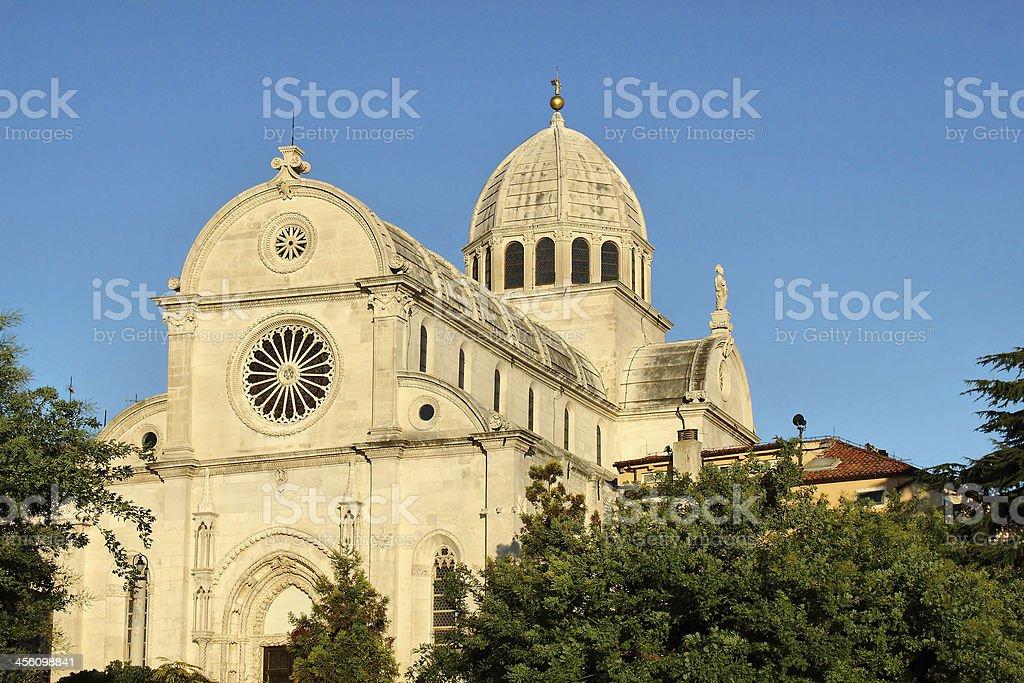 Cathedral of St Jacob in Sibenik, Croatia stock photo