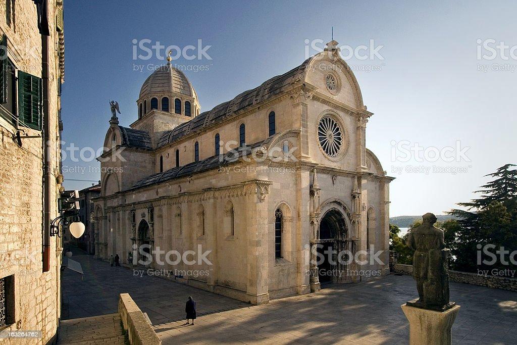 Cathedral of St. James (Sv Jakov) in Sibenik, Croatia stock photo
