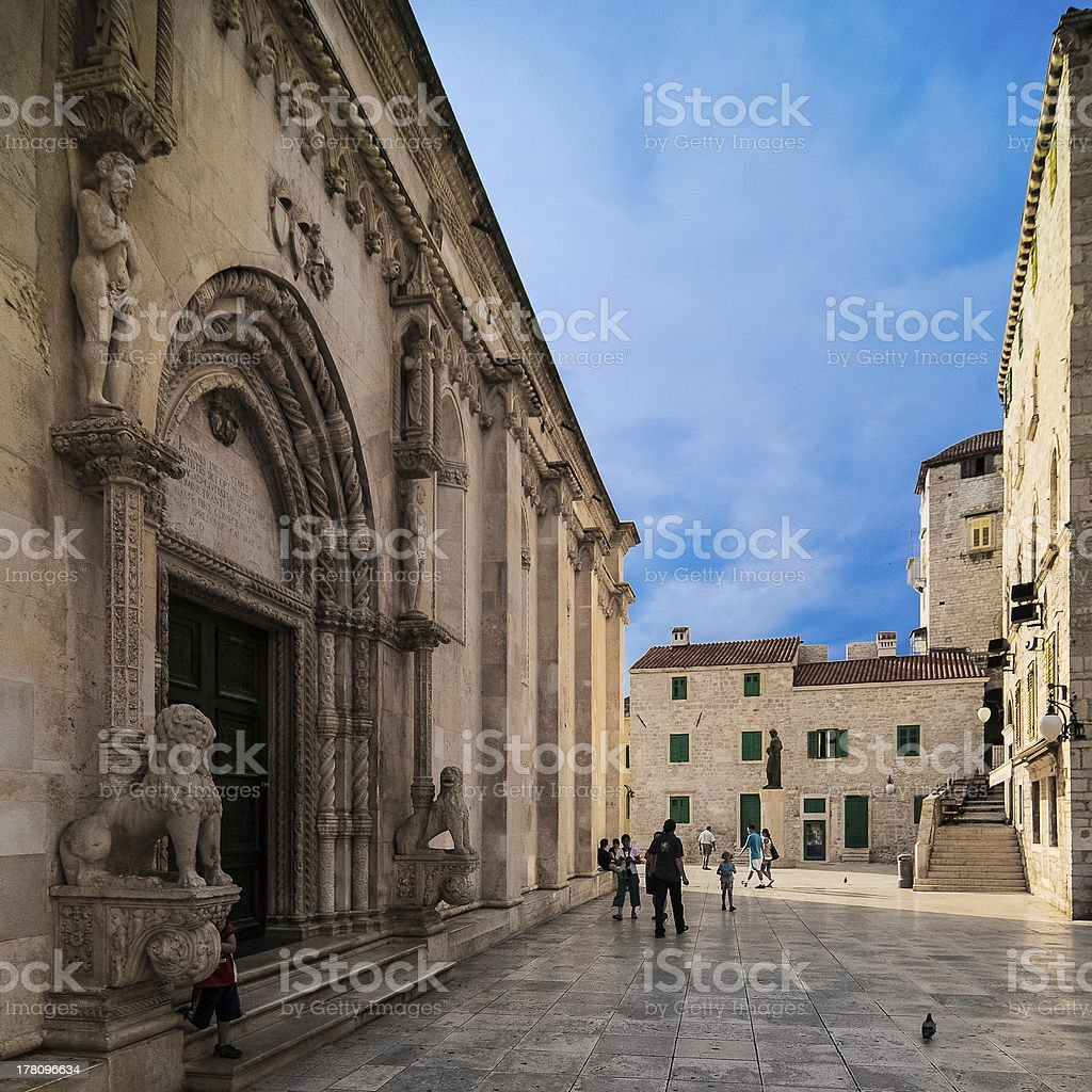Cathedral of St James in Sibenik Croatia stock photo