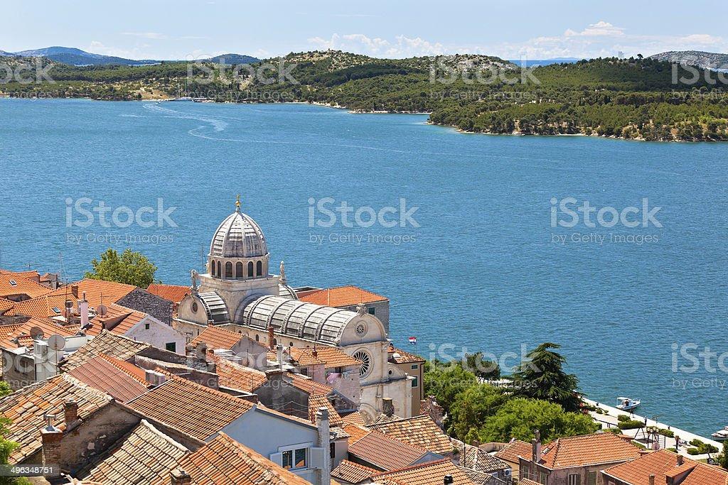 Cathedral of St. James in Sibenik, Croatia stock photo