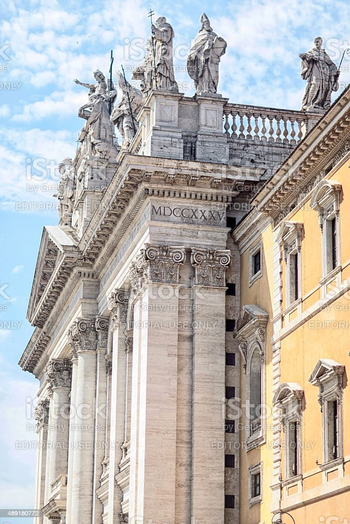 Cathedral of St. John Lateran stock photo
