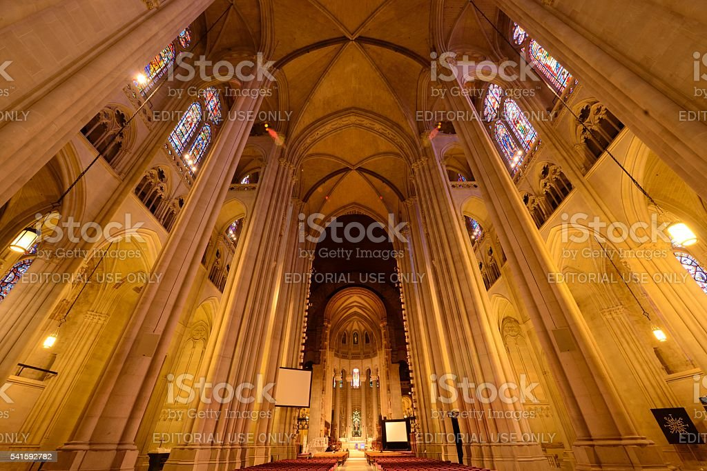 Cathedral of St. John the Divine in New York stock photo