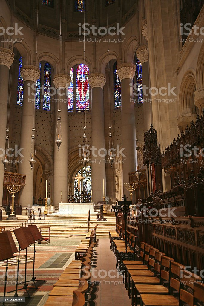Cathedral Of St. John The Divine Interior, New York City stock photo