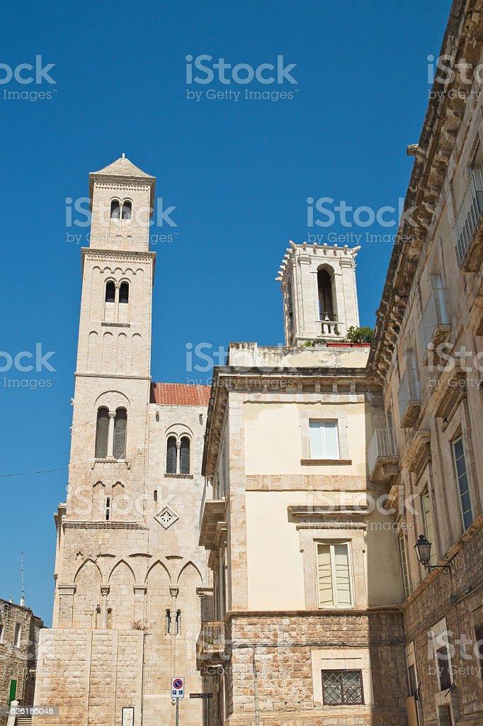 Cathedral of St. Maria Assunta. Giovinazzo. Puglia. Italy. stock photo