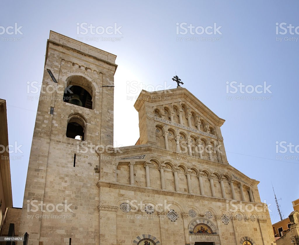 Cathedral of St. Mary in Cagliari. Sardinia. Italy stock photo