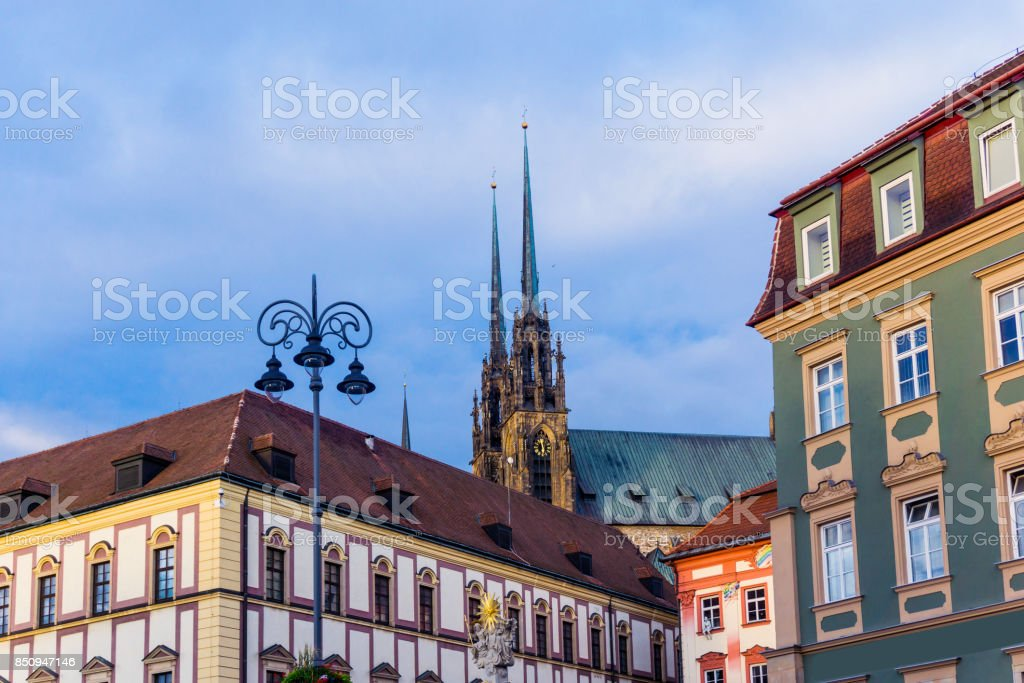 Cathedral of St. Peter and Paul in Brno stock photo
