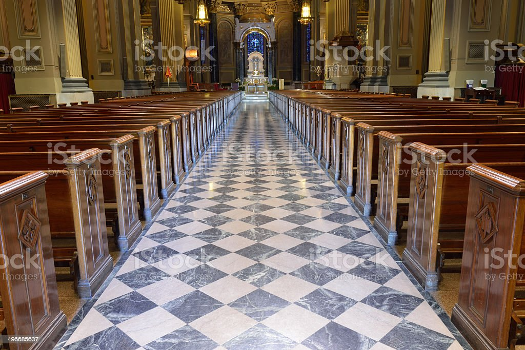 Cathedral of St Peter and Paul in Philadelphia royalty-free stock photo