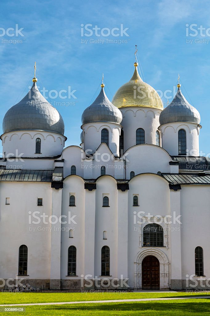 Cathedral of St. Sophia in Novgorod, Russia royalty-free stock photo