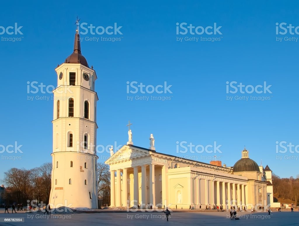 Cathedral of St. Stanislaus in Vilnius stock photo