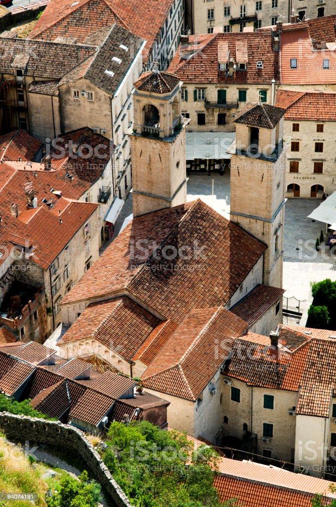 Cattedrale di St. Tripun di Cattaro foto stock royalty-free