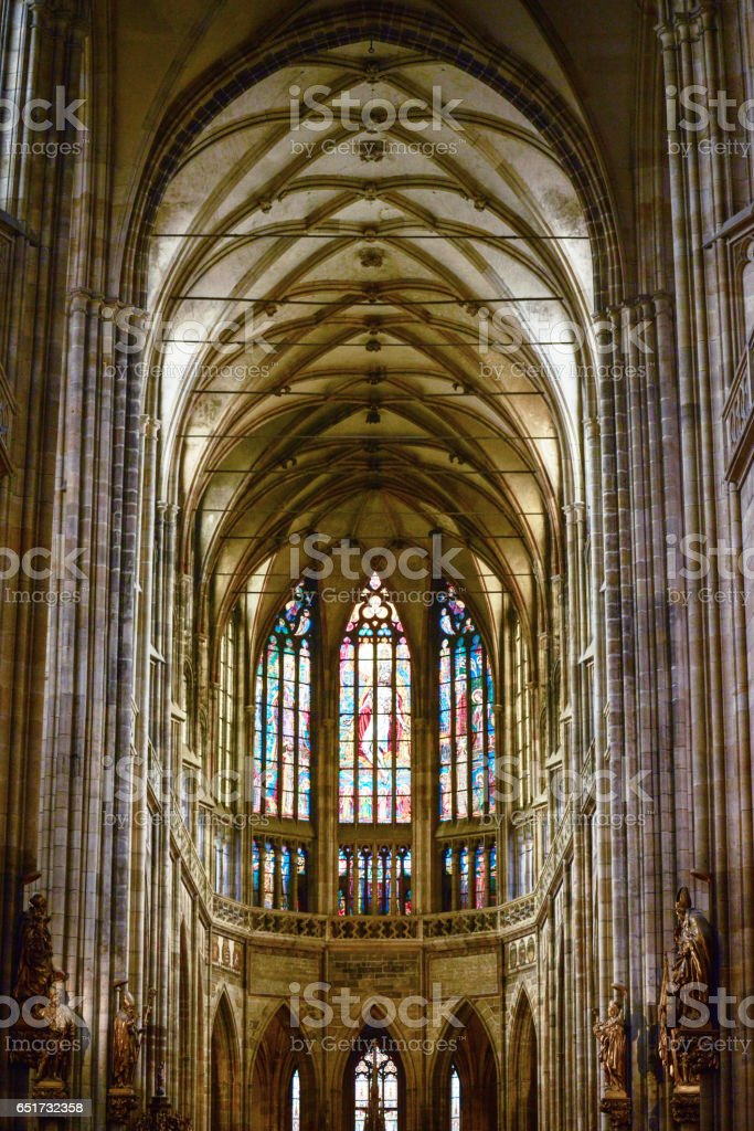 Cathedral of St Vitus in the Prague castle stock photo