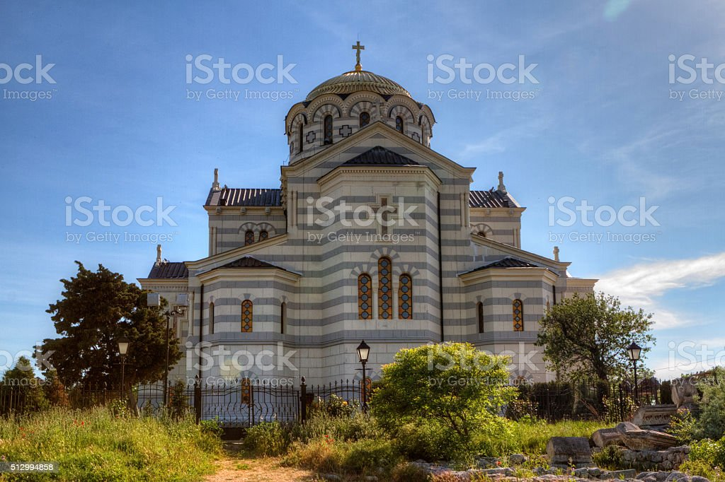 cathedral of St. Vladimir. Chersonesus Taurica stock photo