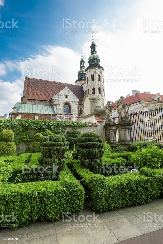 Cathedral of Stanislaus and Wenceslaus in Poland (Krakow) stock photo