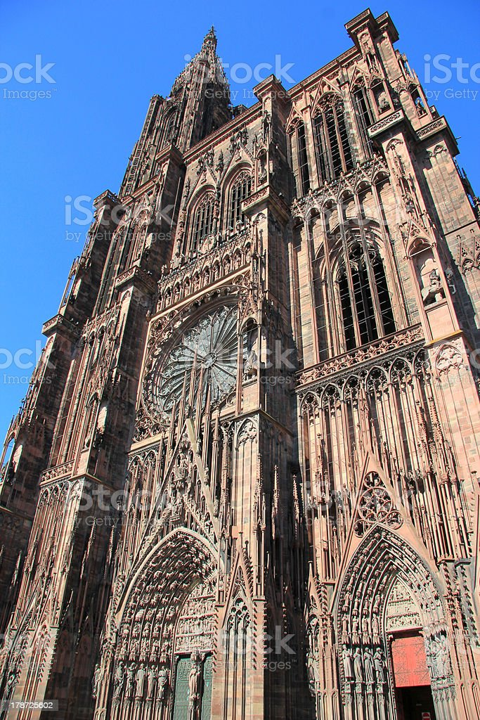 Cathedral of Strasbourg royalty-free stock photo