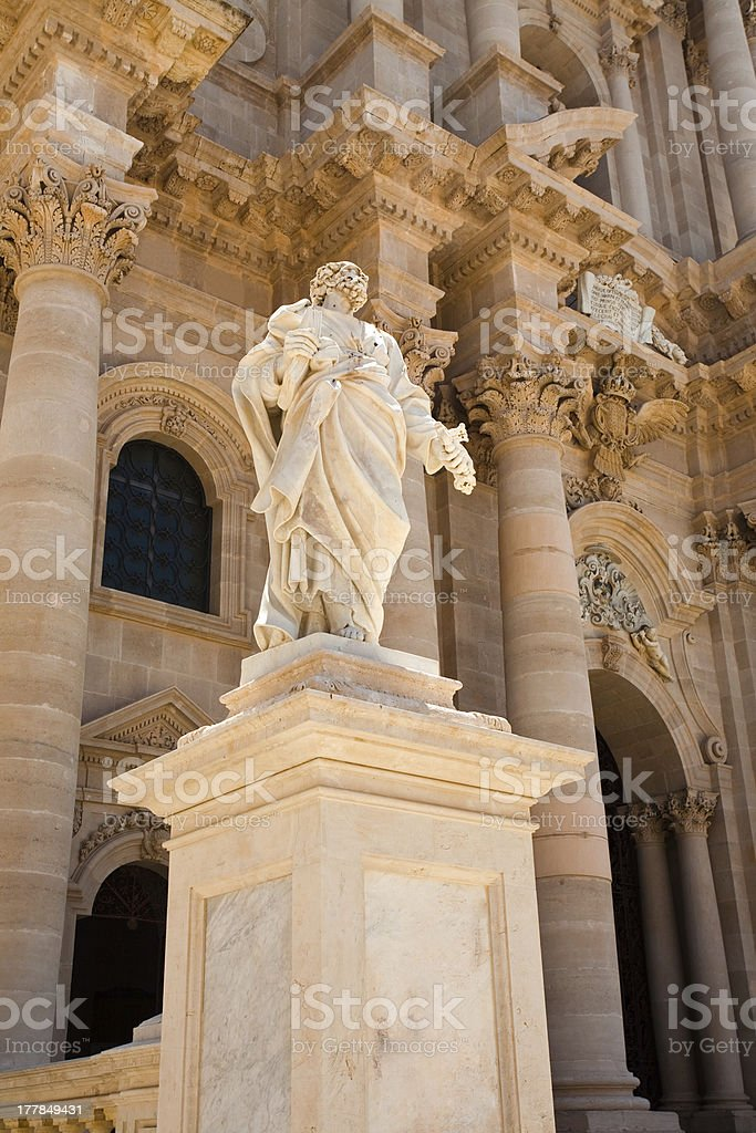 Cathedral of Syracuse, Sicily royalty-free stock photo