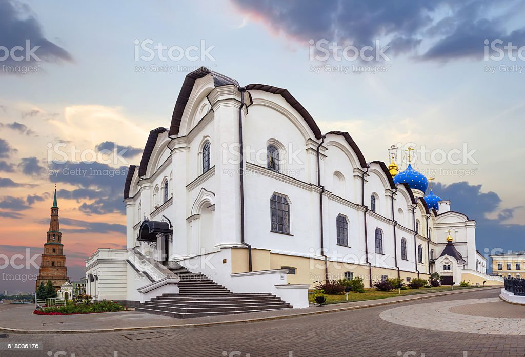 Cathedral of the Annunciation in the Kremlin. Kazan, Tatarstan, Russia stock photo
