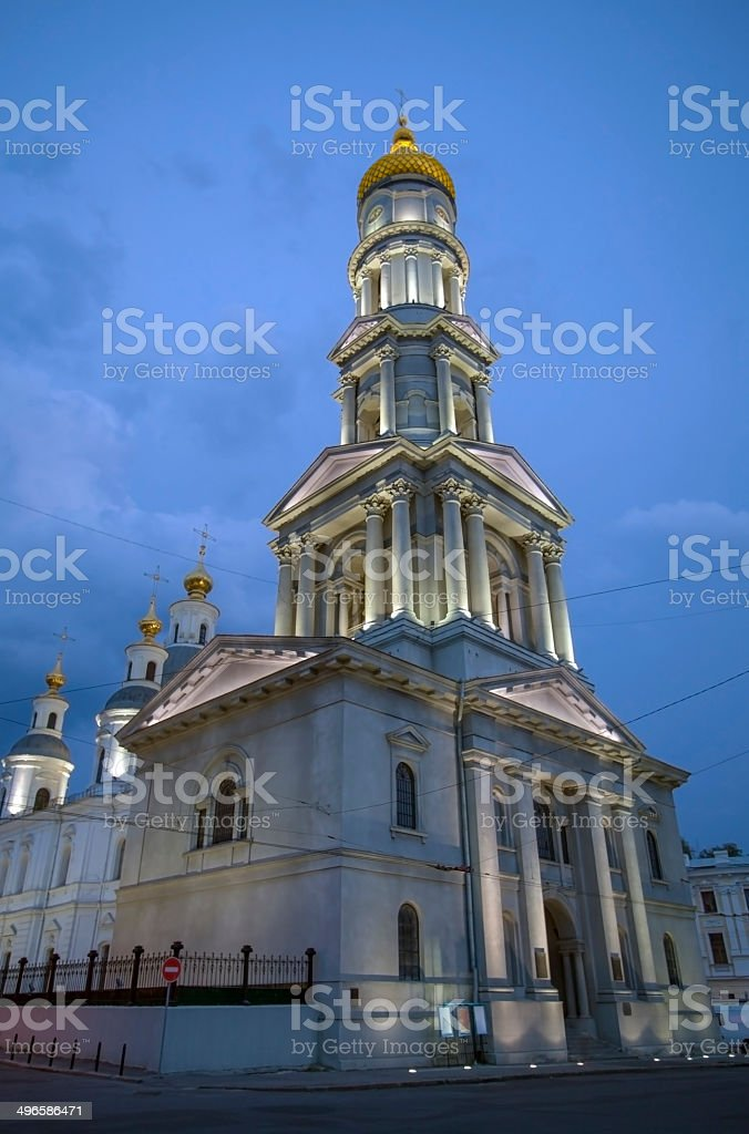 Cathedral of the Assumption at night. royalty-free stock photo