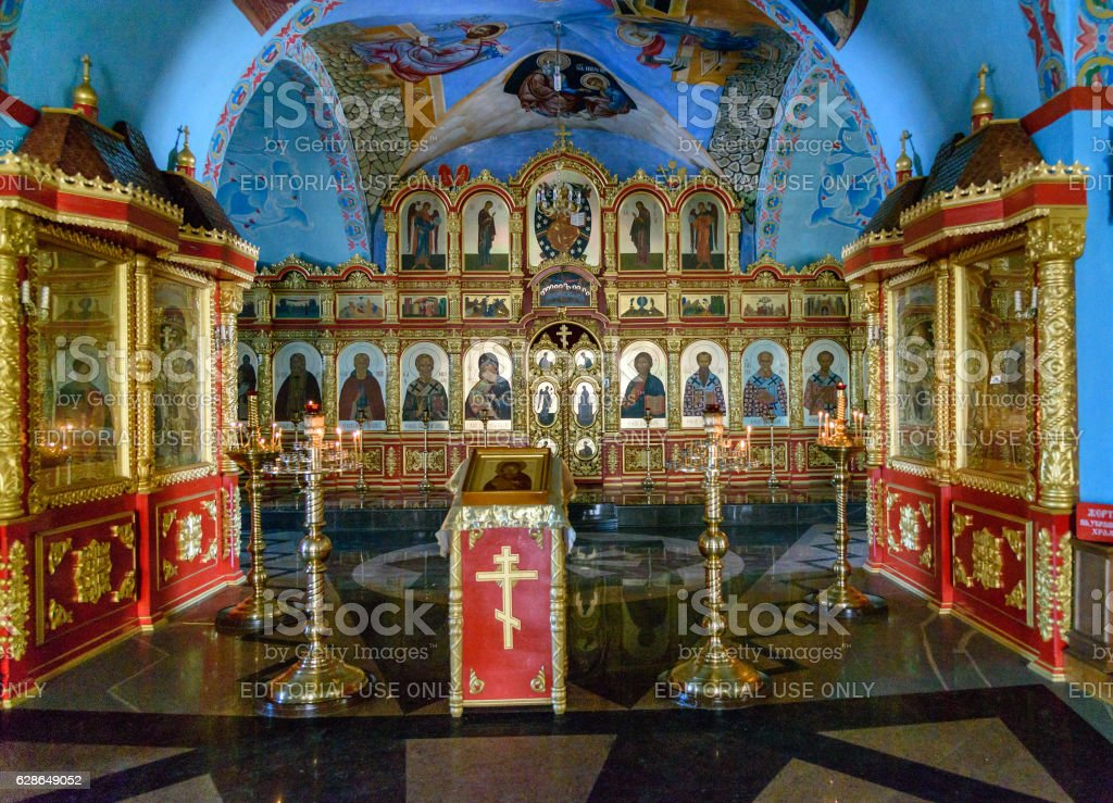 Cathedral of the Assumption in Kremlin Astrakhan stock photo