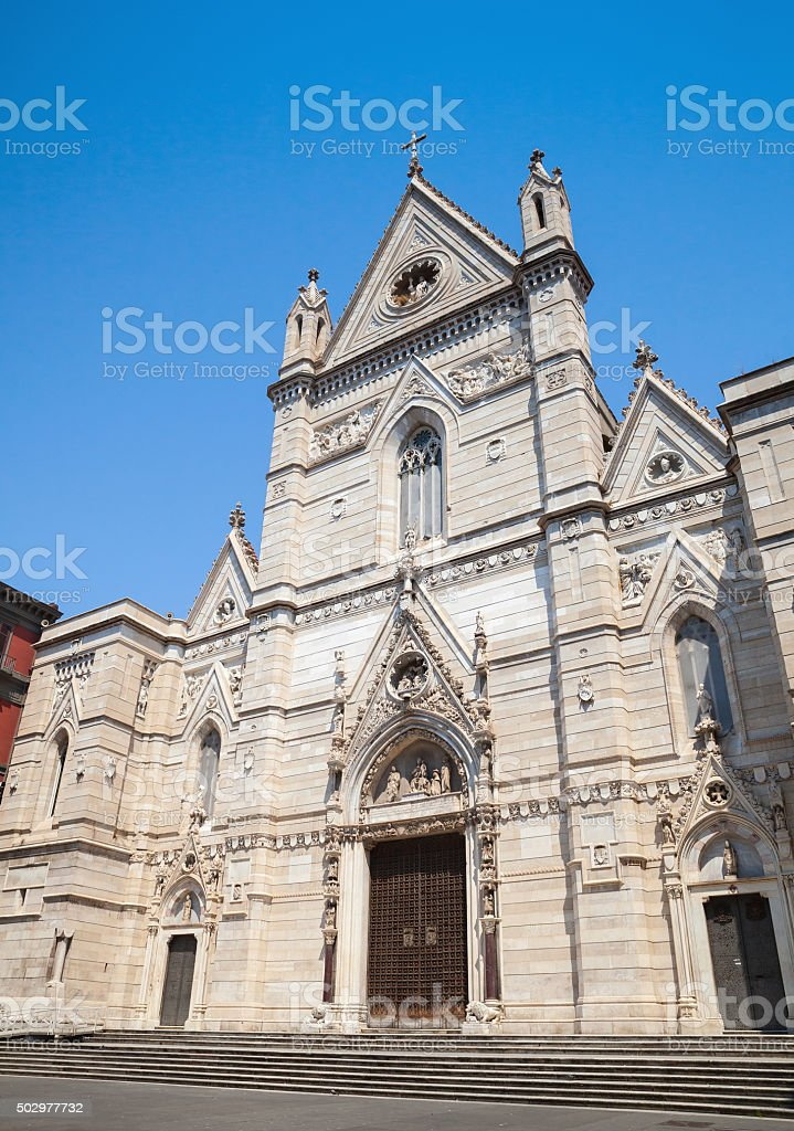 Cathedral of the Assumption of Mary in Naples stock photo